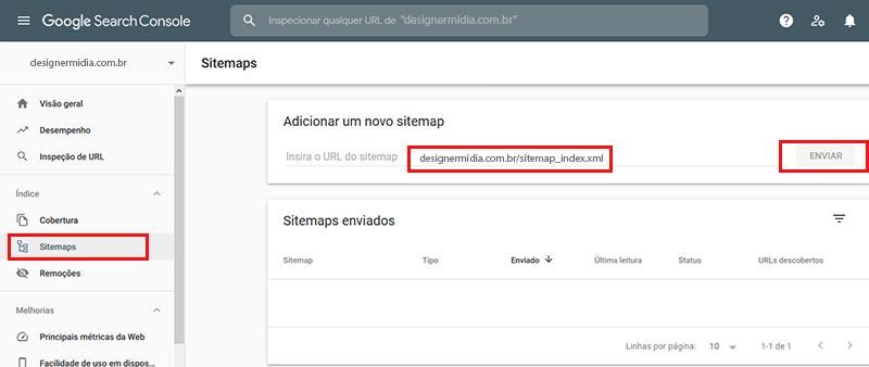 Adicionando Sitemap ao Google Search Console