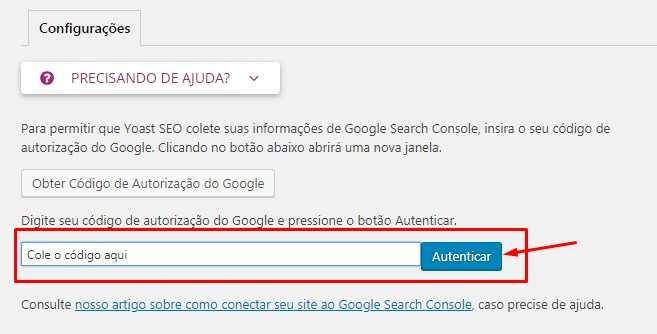 Configuração Plugin Yoast SEO e Google Search Console2