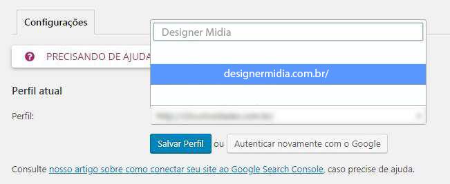 Configuração Plugin Yoast SEO e Google Search Console3