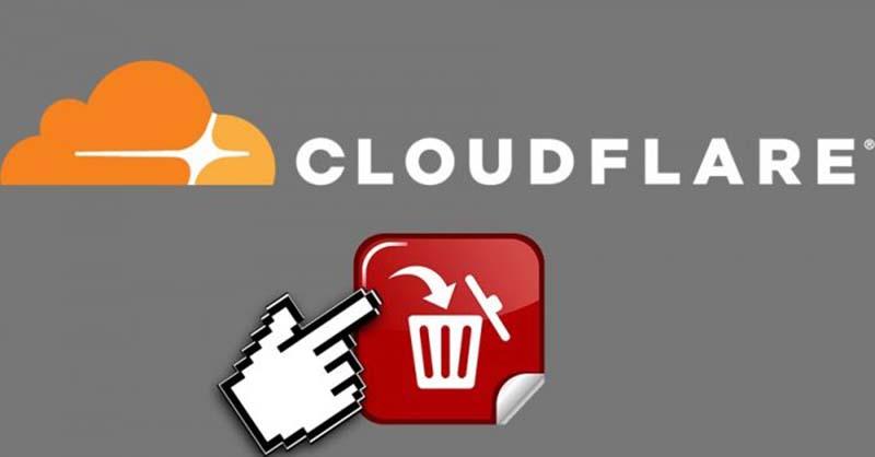 Deletando um Site na Cloudflare